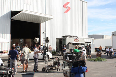Wilmington NC Film Studios: Stage 10 at EUE/Screen Gems Studio with working crew