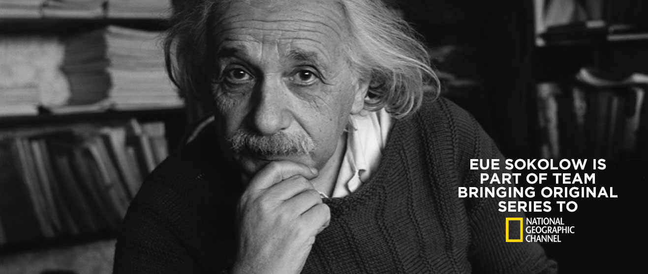 Photo of Albert Einstein for original series on National Geographic Channel called Genius.